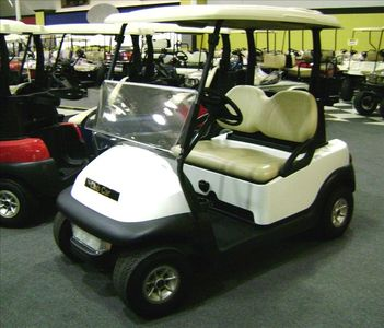 golf cart for your use; a second seat has been added for additional passengers