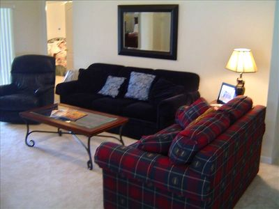 Family Living area....Lazy Boy Leather recliner..pure comfort!