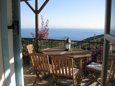 Alonissos villa rental - View from Living Room