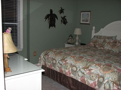 Cedar Key condo rental - New Master Bedroom Furniture!