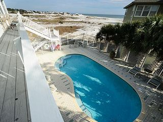 View of private pool overlooking preserve, lake and Gulf of Mexico - Grayton Beach house vacation rental photo