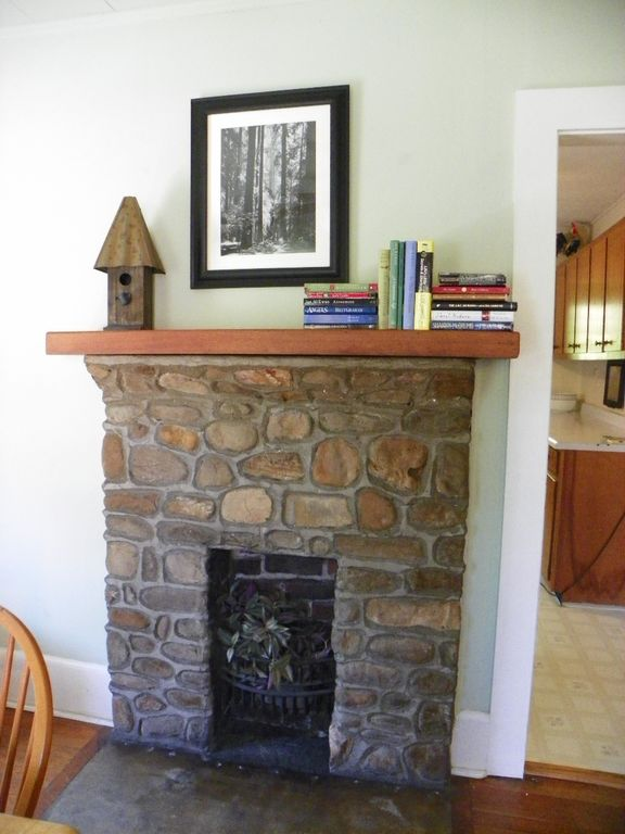 Part of the 1940's history, inviting hearth, ambiance only.