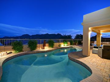 Scottsdale Troon house rental - Amazing night time stargazing from the paver deck heat pool or spa.