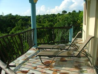 Green Island house photo - Spring Mountain Villa rear balcony