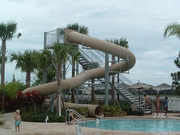 Amazing Water Slide and Dancing Water Feature!