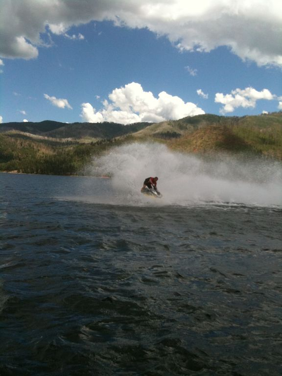 My Son Chris enjoying a Beautiful Day on the Lake with his Jet Ski