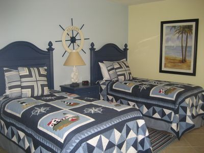 Nautical Bedroom: completely updated with new furniture for 2013 season.