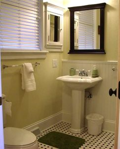 Luxurious & Large Full Bath with Tub, Shower, & Linnen closet.