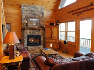 Blue Ridge cabin photo - Great Room and Wall of Windows