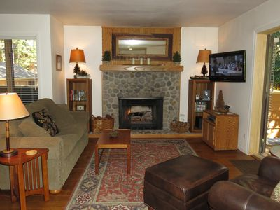 Cozy Living Room...gas log fireplace