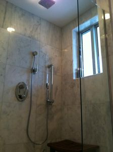 full marble master shower