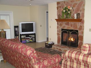 Suwannee River house photo - Enjoy cozy fireplace in winter