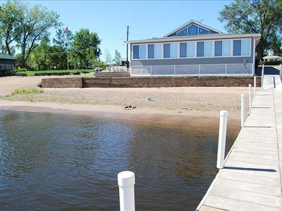 Beach House #1 with a Private Beach on the St. Croix River