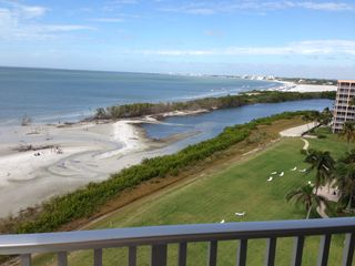 Fort Myers Beach condo photo - View of beach from porch