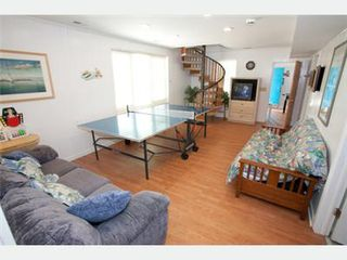 Virginia Beach house photo - Recreation Room - Q sofabed & D futon - ground floor, staircase no longer spiral