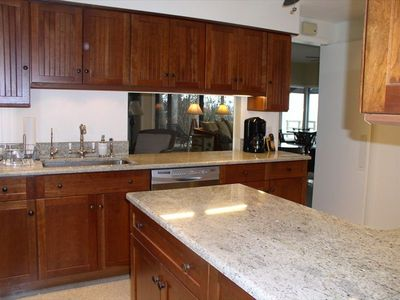 The kitchen is beautifully renovated & fully equipped for cooking & entertaining