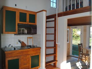 Siasconset cottage photo - Kitchen and Stairs to Loft