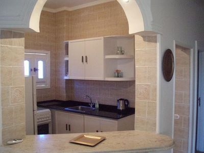 Hurghada apartment rental - Kitchen/ fridge/gas hob-oven/micro/coffee/thee
