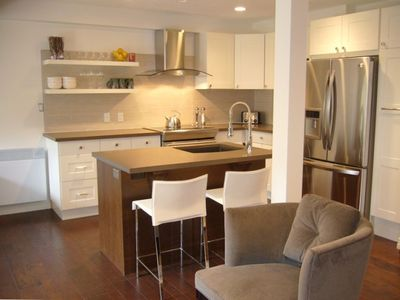 Designer Kitchen with Modern Stainless Appliances