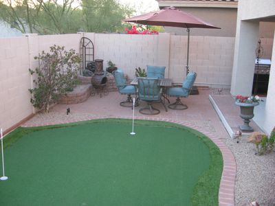 Scottsdale North house rental - Another view of back yard.