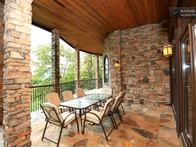 Burnsville villa rental - Lower deck