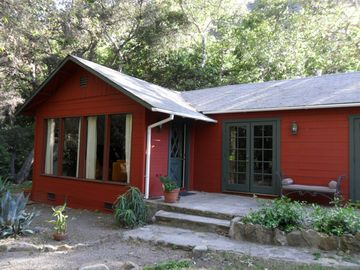 Goleta house rental - Front view of the Red House from Refugio Road...