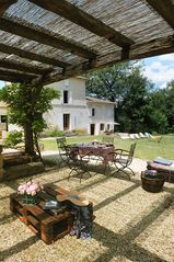 Naujan-et-Postiac farmhouse photo - Salt water heated pool with shallow area perfect for toddlers and for relaxing.