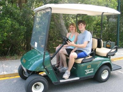 Kids in Golf Cart