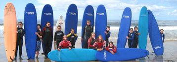 Aloha Surf School operate from Fanore beach (3 mins from the house)
