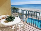 Lovely Balcony, watch for dolphins and keep an eye out on the pool... - Gulf Shores condo vacation rental photo