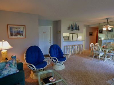 Bethany Beach condo rental - Condo overiew from living room facing front entance