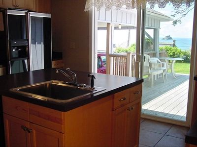 Enjoy the OCEAN VIEW while preparing every meal in the newly remodeled kitchen