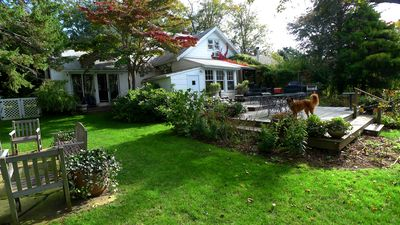 Bridgehampton cottage rental - Back of house and gardens