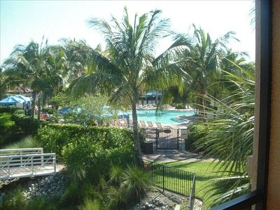 View from our lanai Second Floor Corner Unit  Gorgeous views Lush Palms