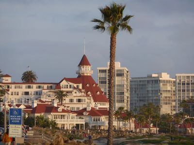 Just a few short blocks to the famous Hotel Del Coronado.
