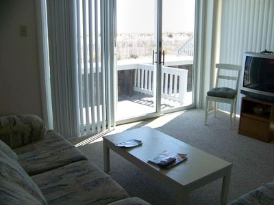 Living Room looks out to the beach