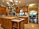 Kitchen has great amenities: gas stove, double oven, sub zero type refrigerator