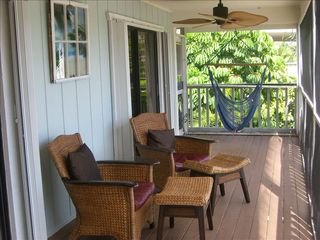 Islamorada house photo - Relax in our breezy covered balcony in a chair...or a hammock..