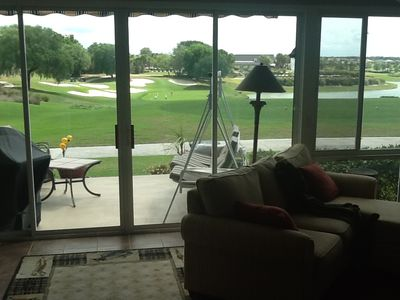 View from the glassed in Florida room.