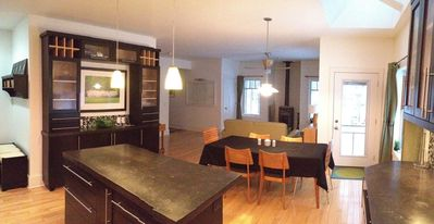 Harbor Springs house rental - View from Kitchen to dining and living areas.