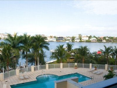 Waterview from condo Lanai-Pool area has gas grills!