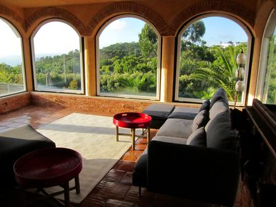 Cabo da Roca villa rental - Sea and mountain view from the living room
