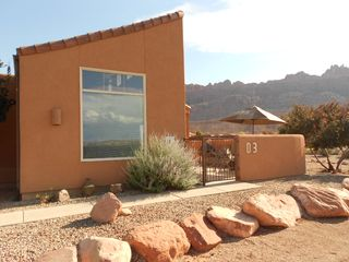 Moab townhome photo - Views of Moab Rim. No other units are behind. Great access to pool and spa.