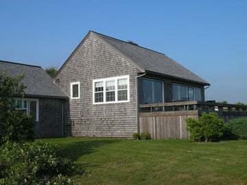 Front of house, overlooking pond and beach