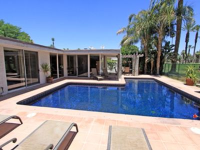 Mosiac tile pool with optional child proof pool fence
