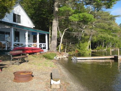 Maine lake front cabin the way life ought to be vacation for Lake cabins for rent in massachusetts