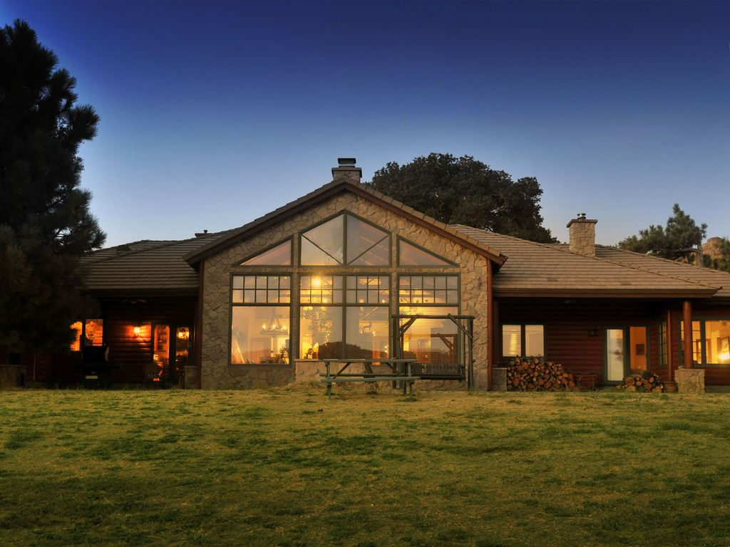 Back of the house, looking in and a typical and beautiful clear night