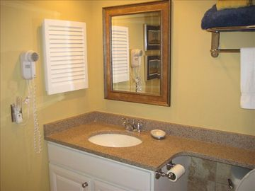 Bathroom with granite sink