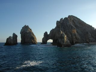 The famous arch (El Arco). This landmark is connected to Lovers Beach! - Cabo San Lucas villa vacation rental photo