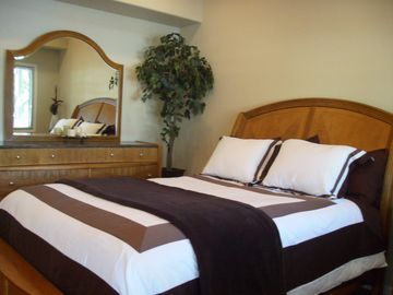 One of Two Master Suites in the Beautiful Nearby Cottage...Enjoy Extra Privacy!